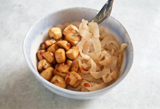 Dancing for Donuts | Easy Air-Fried Tofu & Shirataki Noodles (Vegan, Gluten-Free)