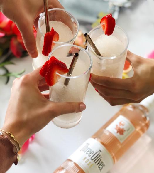 Dancing for Donuts | Frosé Vosé with Three Olives Rosé Vodka