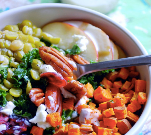 Fall Harvest Kale Salad
