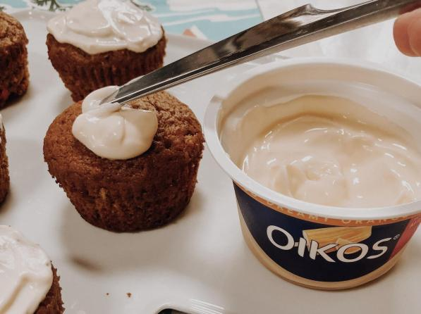 Dancing for Donuts | Spiced Carrot Orange Muffins With Oikos