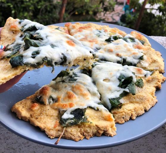 Gluten-Free Chickpea Pizza Crust | Dancing for Donuts