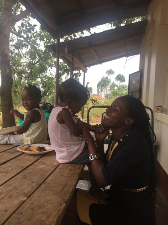 Bridget, one of the clinical officers, and her daughter, Trini.