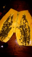 "Delicious local ""paw paw"" or papaya"