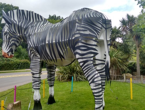 Giant Zebra Sculpture