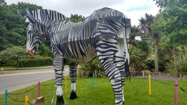 Giant Zebra Sculpture