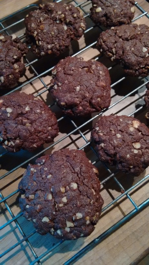 Home Made Double Chocolate Cookies