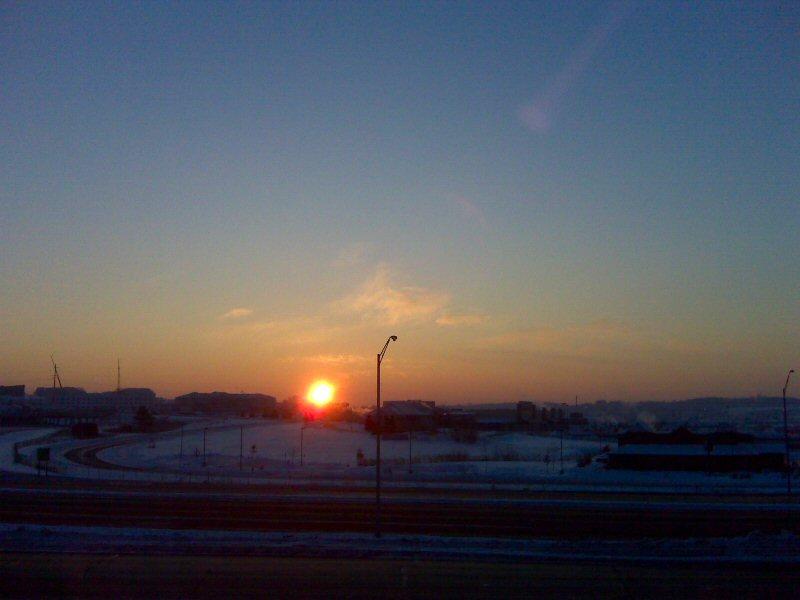 Sunrise over Madison, Swissconsin