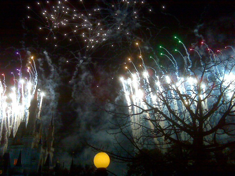 THe fireworks display was expertly choreographed to music