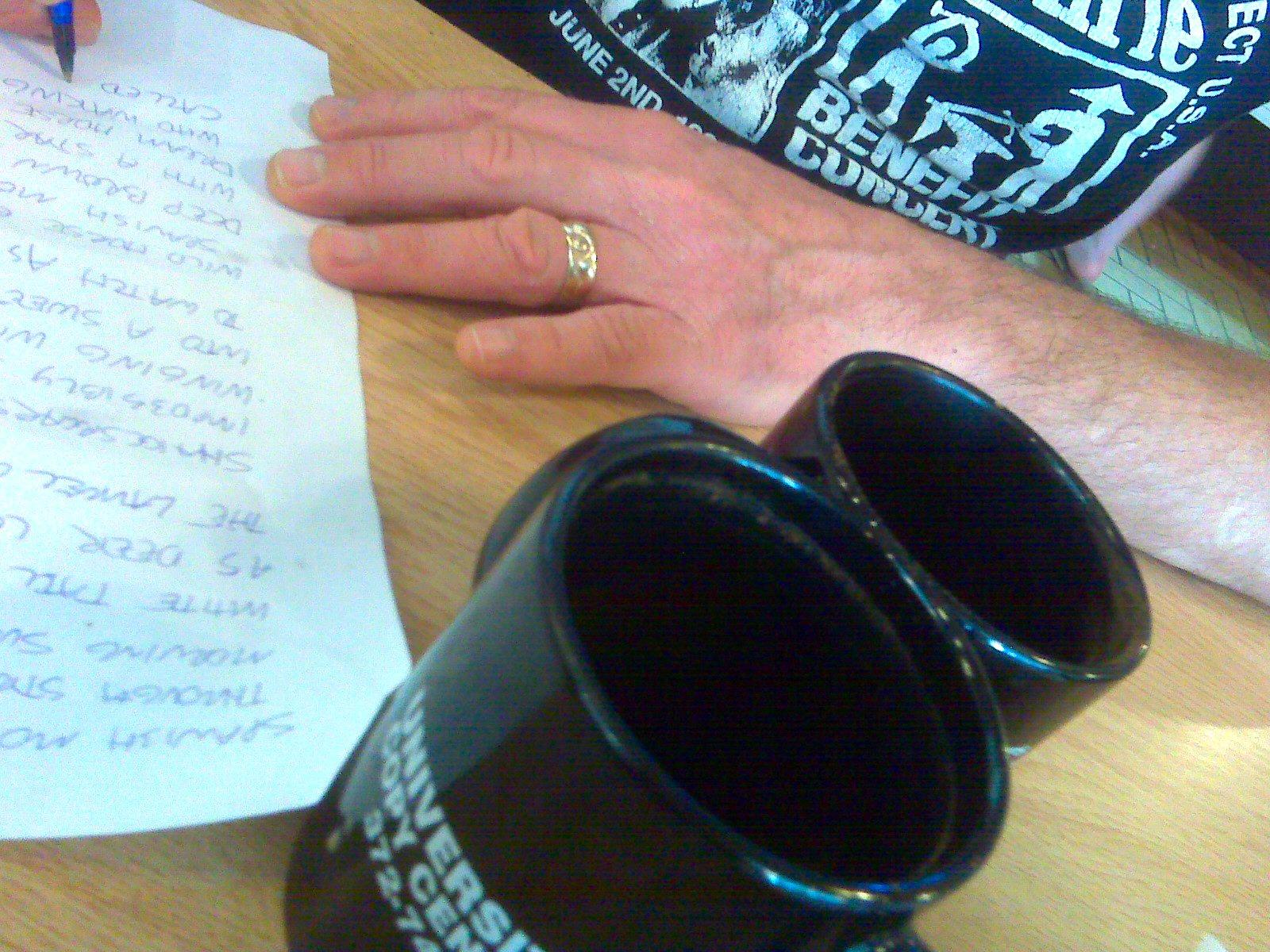 Greg writes an anniversary poem at Bageland