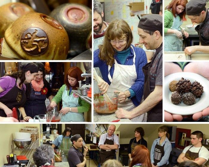 Making artisan truffles at Dancing Lion Chocolate's kitchen