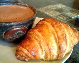 Croissant with Hot Drinking Chocolate