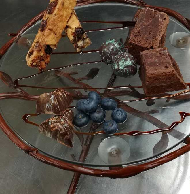 CHOCOLATE SERVICE FOR TWO, served with a pitcheof Traditional Drinking Chocolate.#chocolatier #chocolate #elegant