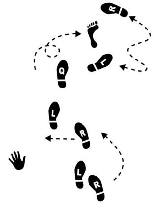 Dance Steps Bare Foot