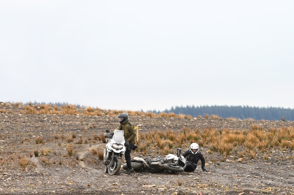 This was what happened –several times – when I tried to ride a Tiger 1200 off road.