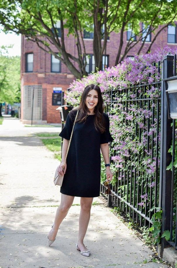 how to wear black to a bridal shower or baby shower