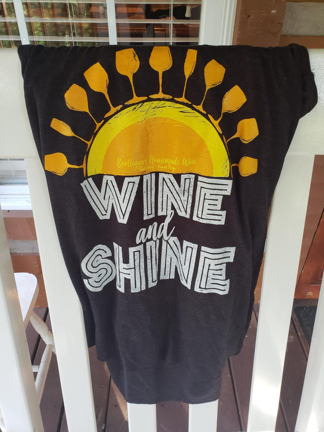 Shirt from Bootleggers Homemade Wine Store