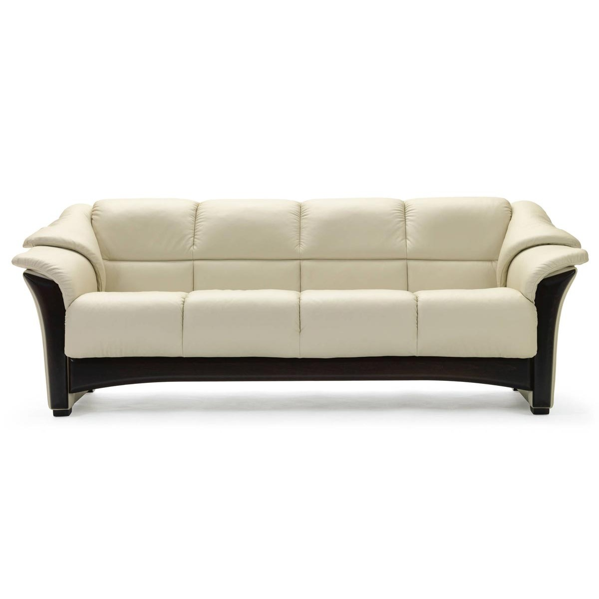 contemporary sofa with wood trim two seater recliner black leather fabric tufted