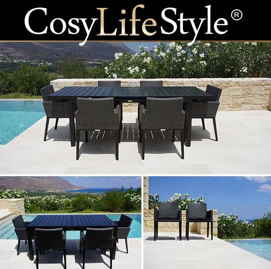 Dining set with tables and chairs