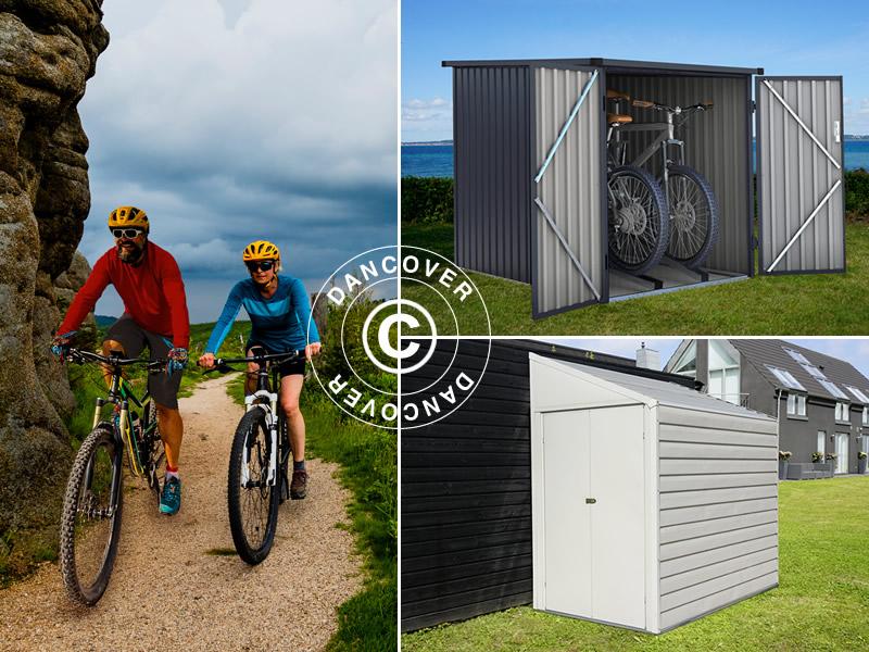 Bike storage sheds for shelter and safety