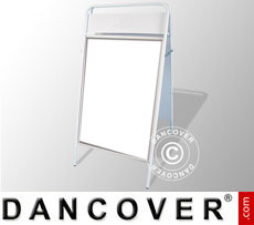 A-board, 68x132 cm, White