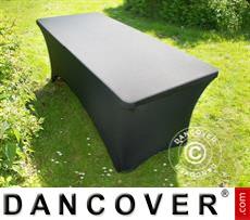 Stretch table cover, 200x90x74 cm, Black