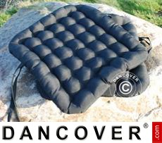 Seat cushion, 41x44x5cm, black, 4 pcs.