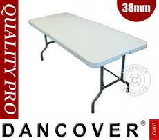 Folding Table 182x74x74cm, Light Grey (1 pc.)