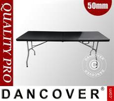 Folding Table 182x74x74cm, Black (1 pc.)