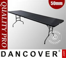Folding Tables 242x76x74cm, Black (25 pcs.)