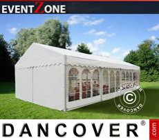 Heavy-duty marquees EventZone 6x12 m PVC, White