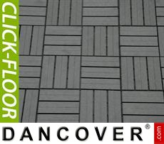 Decking tiles WPC Click-Floor, Squares, 30x30cm, 9 pcs/box, Grey