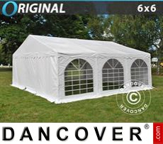 Party Marquee Original 6x6 m PVC, White