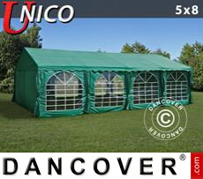 Party Marquee UNICO 5x8m, Dark Green