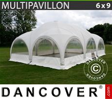 Party Marquee Multipavillon 6x9 m, White