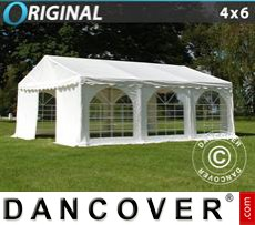 Party Marquee Original 4x6 m PVC, White