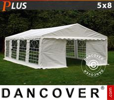 Party Marquee PLUS 5x8 m PE, White