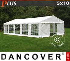 Party Marquee PLUS 5x10 m PE, White