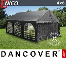 Party Marquee UNICO 4x6 m, Black
