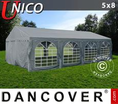 Party Marquee UNICO 5x8m, Dark Grey
