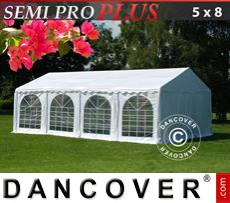 Party Marquee SEMI PRO Plus 5x8 m PVC, White