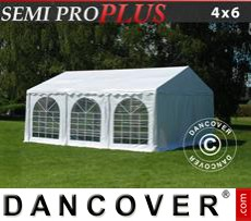 Party Marquee SEMI PRO Plus 4x6 m PVC, White