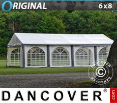 Party Marquee Original 6x8 m PVC, Grey/White