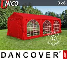 Party Marquee UNICO 3x6 m, Red