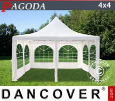 Party Marquee Pagoda 4x4 m, Off-White