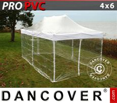 Pop Up Marquee PRO 4x6 m Clear, incl. 8 sidewalls
