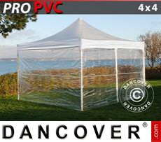 Pop Up Marquee PRO 4x4 m Clear, incl. 4 sidewalls