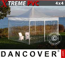 Pop Up Marquee Xtreme 4x4 m Clear, incl. 4 sidewalls
