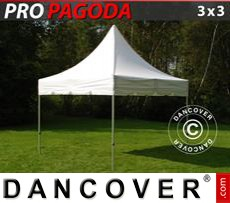 Pop Up Marquee PRO Peak Pagoda 3x3m White