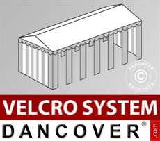 Roof cover with Velcro for Exclusive marquee 6x12 m, White / Grey