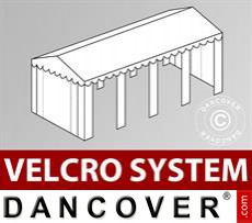 Roof cover with Velcro for SEMI PRO Plus marquee 6x8 m, White